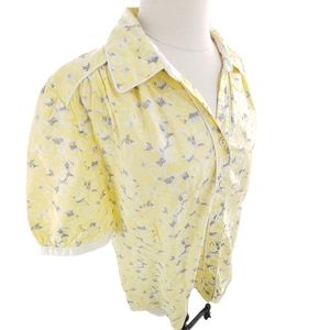 Rare Blue Willi's blouse in luminous gray, yellow